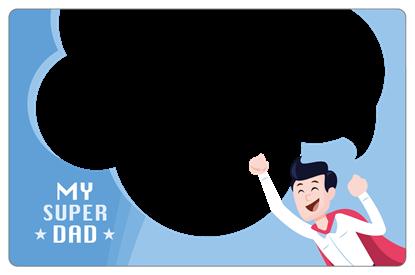 圖片 超級老爸卡框-橫式