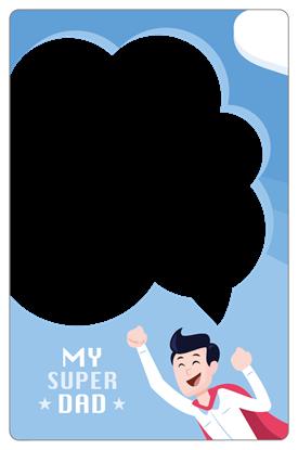 圖片 超級老爸卡框-直式