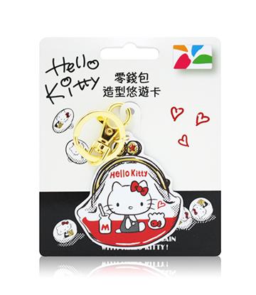 圖片 HELLO KITTY 造型悠遊卡-零錢包