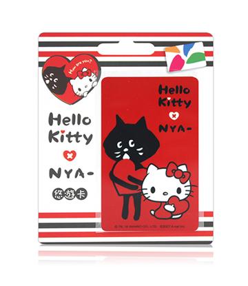 圖片 HELLO KITTY x NYA聯名悠遊卡-心互動(直)