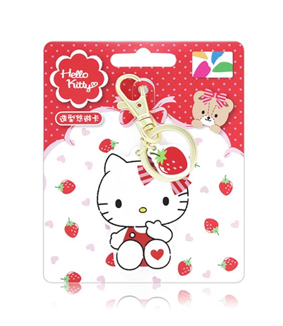 圖片 HELLO KITTY 造型悠遊卡-草莓