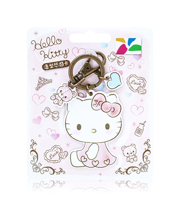 圖片 HELLO KITTY 造型悠遊卡-愛心