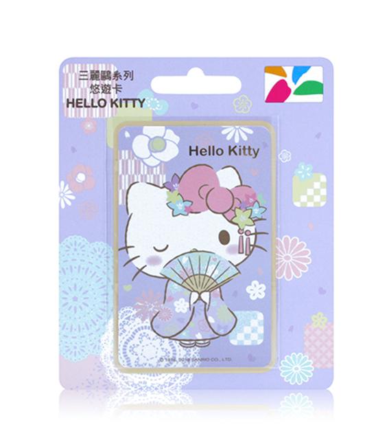 圖片 三麗鷗和風系列悠遊卡-HELLO KITTY