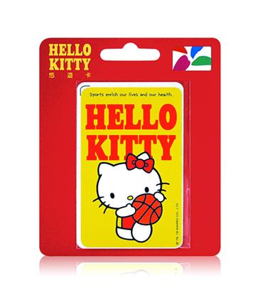 圖片 HELLO KITTY運動系悠遊卡-籃球