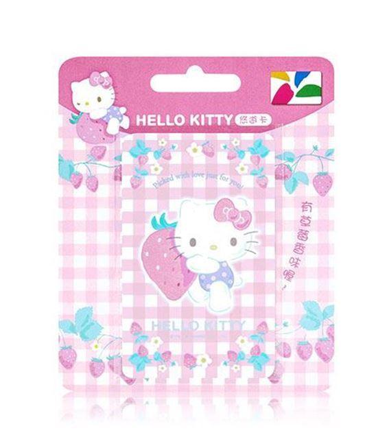 圖片 HELLO KITTY悠遊卡-草莓精靈