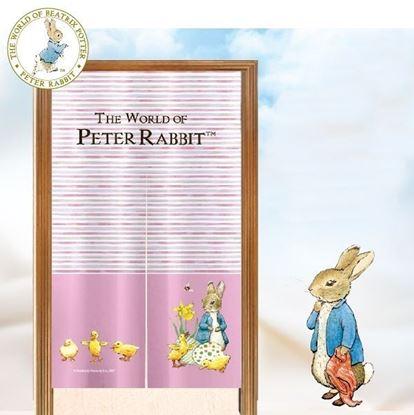 圖片 比得兔-粉紅小兔長門簾