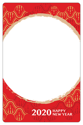 圖片 農曆新年卡框-歡樂慶過年