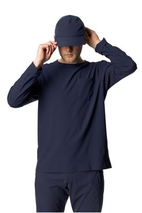 圖片 瑞典【Houdini】Cover Crew 男款圓領薄長袖 藍色幻想