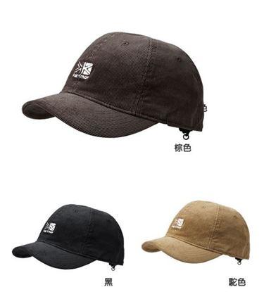 圖片 日系[ Karrimor ] Corduroy logo cap 燈芯龍小帽