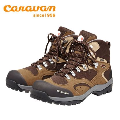 圖片 【日本Caravan】 C1_02S 中筒登山健行鞋 (咖啡色)