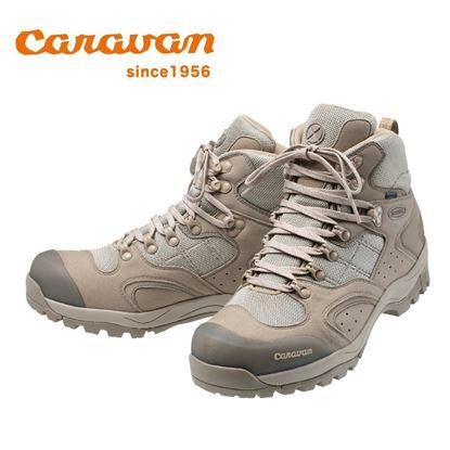 圖片 日本Caravan】 C1_02S 中筒登山健行鞋 2020限定版 沙褐色
