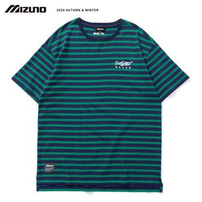 圖片 【美津濃MIZUNO】男款短袖T恤(湛藍X綠)