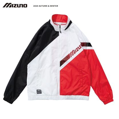 圖片 【美津濃MIZUNO】男款平織外套(黑紅)