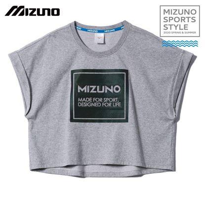圖片 【美津濃MIZUNO】女款短袖T恤 (灰)