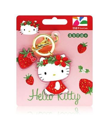 圖片 HELLO KITTY造型悠遊卡-草莓花圈