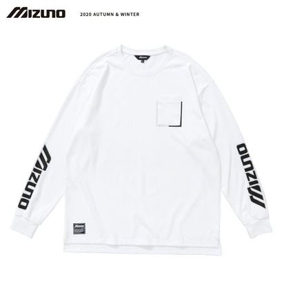 圖片 【 美津濃MIZUNO】男款長袖T恤 (白)