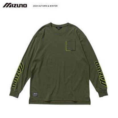 圖片 【 美津濃MIZUNO】男款長袖T恤(灰綠)