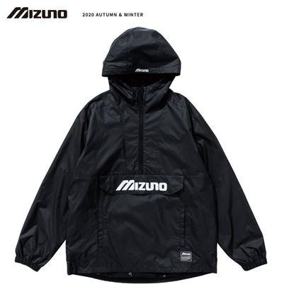 圖片 【 美津濃MIZUNO】 男款平織衝鋒衣(黑)
