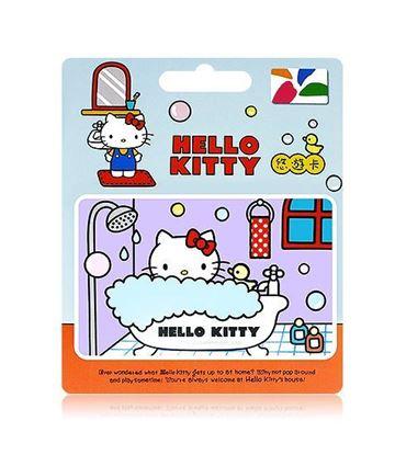 圖片 HELLO KITTY悠遊卡-泡泡浴