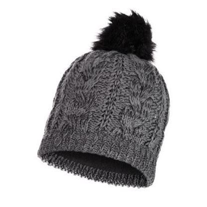 圖片 DARLA-針織保暖毛球帽 知性灰