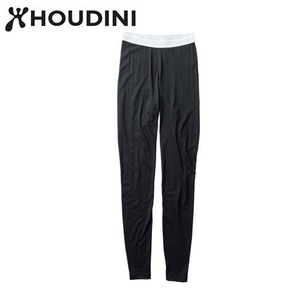 圖片 瑞典【Houdini】W`s Desoli tight 女款美麗諾羊毛保暖內層褲 純黑