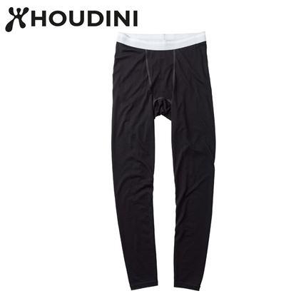 圖片 瑞典【Houdini】M`s Desoli Tight 男款美麗諾內層褲 純黑