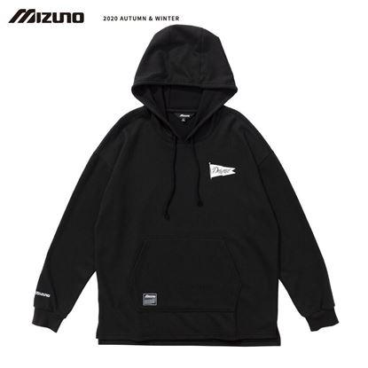 圖片 【 美津濃MIZUNO】 男款長袖連帽T恤(黑)