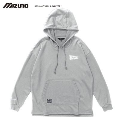 圖片 【 美津濃MIZUNO】 男款長袖連帽T恤 (灰)