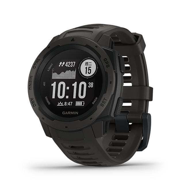 圖片 【GARMIN】Instinct 軍規GPS運動腕表 石墨黑