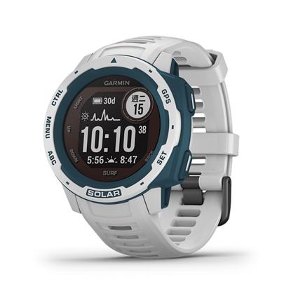 圖片 【GARMIN】 Instinct  Solar 本我系列 太陽能GPS腕錶 運動衝浪版 浪花白