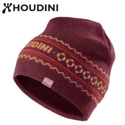 圖片 瑞典【Houdini】Tarna Hat 中性保暖羊毛帽 果汁紅