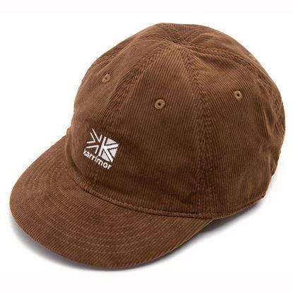 圖片 日系[ Karrimor ] Corduroy logo cap 燈芯龍小帽 - 深米黃