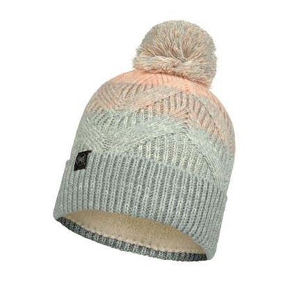 圖片 【BUFF】MASHA -針織保暖毛球帽 灰粉橘