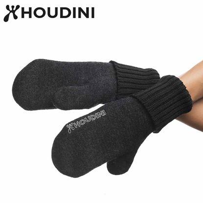 圖片 瑞典【Houdini】Felted Mitts 中性美麗諾羊毛手套 純黑