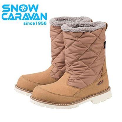 圖片 【日本Caravan 】SHC_7W 中性保暖防水中筒雪靴 淺棕