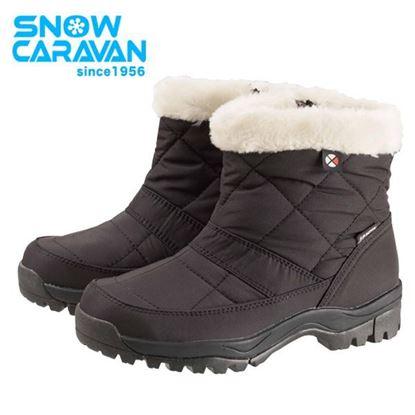 圖片 【日本Caravan 】SHC_13W 女性保暖防水中筒雪靴 黑