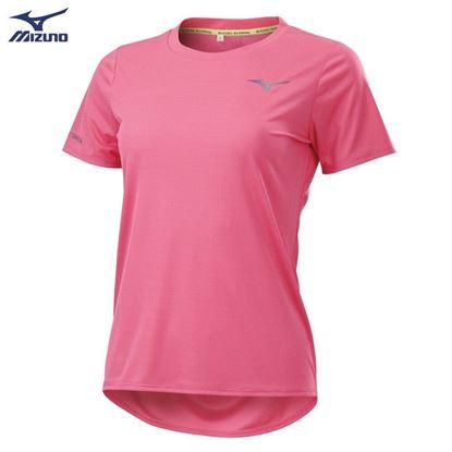 圖片 【美津濃MIZUNO】女款路跑短袖T恤-(草莓粉)