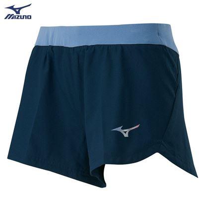圖片 【 美津濃MIZUNO】女款路跑短褲(靛藍)