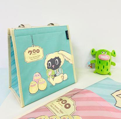 圖片 Sunny Bag x Kuroro直式方形保溫袋-兔兔送貨員款