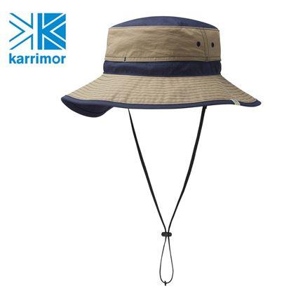 圖片 日系[ Karrimor ]Ventilation Classic Hat ST 透氣圓盤帽 深米黃/海軍藍
