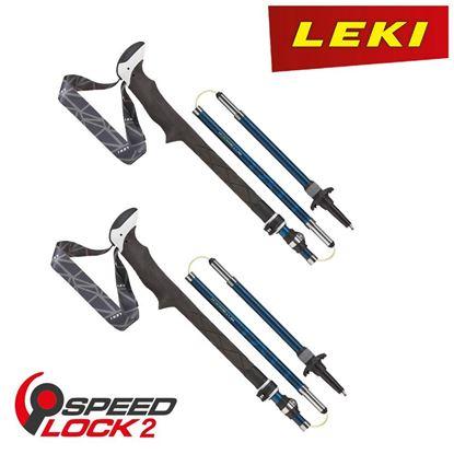 圖片 【德國LEKI】Micro Vario Carbon AS 碳纖維 ELD+快扣折疊登山杖 一組兩支