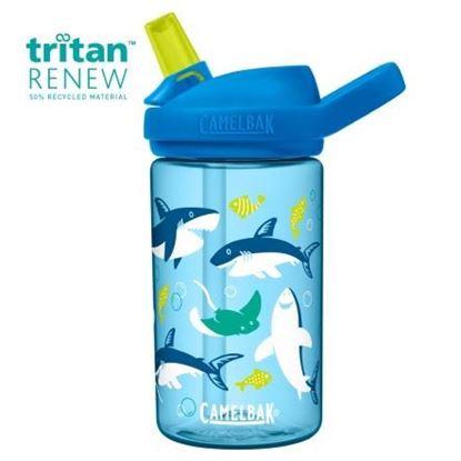 圖片 【CamelBak】400ml eddy+兒童吸管運動水瓶-鯊魚樂園