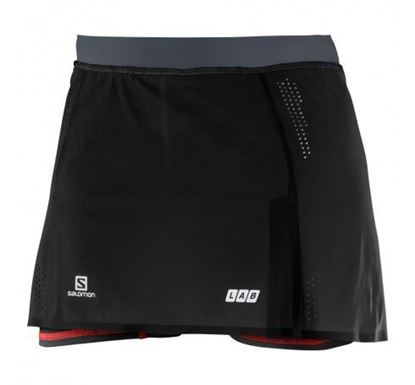 圖片 【Salomon】SA15 S-Lab Sense Skort女褲裙黑/深灰/賽車紅