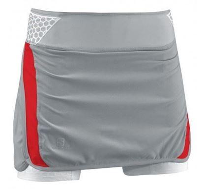圖片 【Salomon】SA14 S-LAB EXO Twinskin褲裙女灰/紅/白