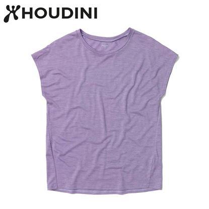 圖片 瑞典【Houdini】W`s Activist Tee 女 羊毛混紡天絲短袖 薰衣草紫