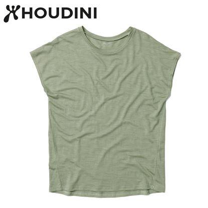 圖片 瑞典【Houdini】W`s Activist Tee 女 羊毛混紡天絲短袖 碗豆綠