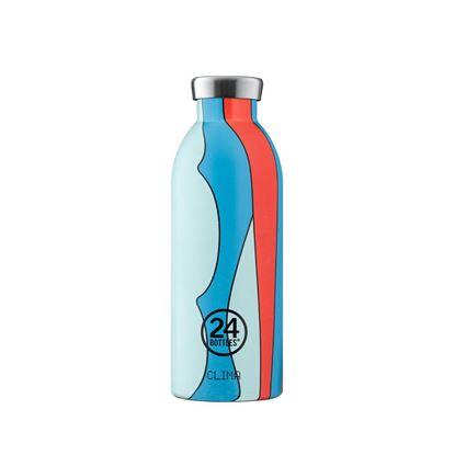 圖片 義大利 24Bottles 不鏽鋼雙層保溫瓶 500ml - 波普藍