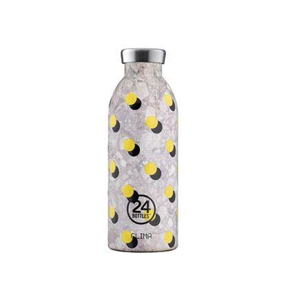圖片 義大利 24Bottles 不鏽鋼雙層保溫瓶 500ml - 波卡黃